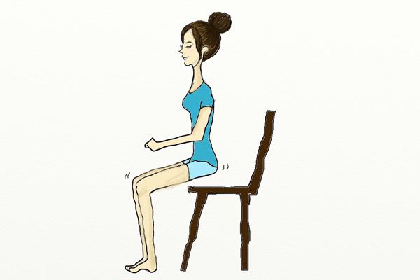 イスに座っているときに大臀筋を鍛えるイラスト