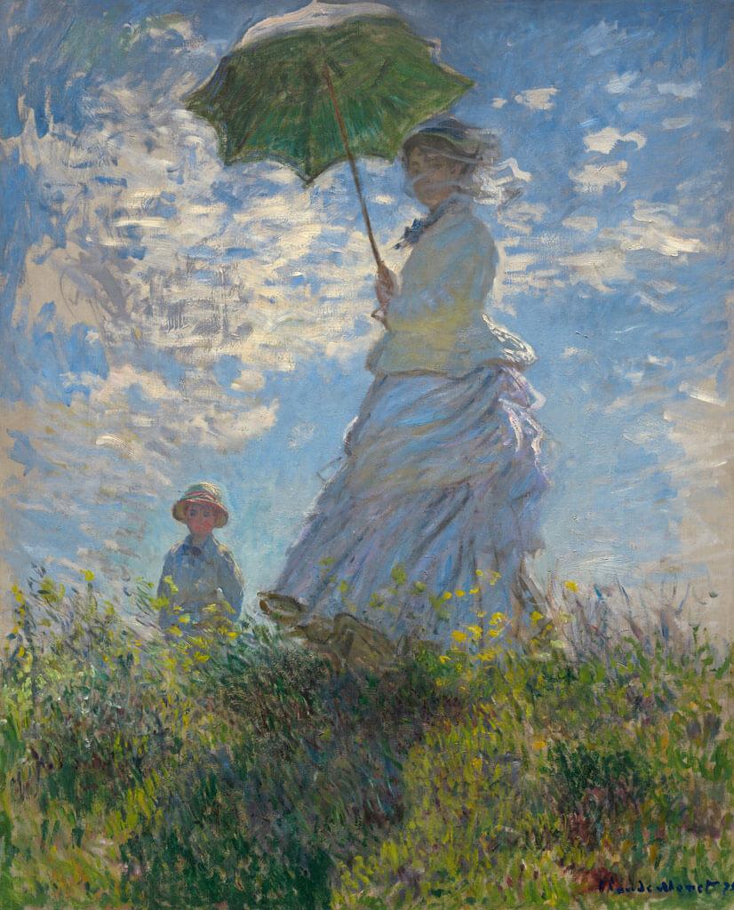 散歩、日傘をさす女性/クロード・モネ