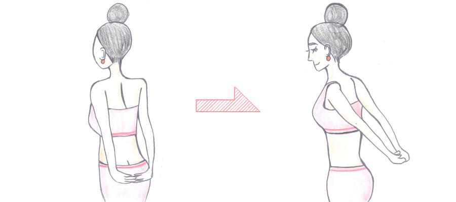 バストアップの為の姿勢改善ストレッチ方法