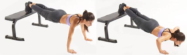 上部大胸筋や小胸筋を集中的に鍛えられる腕立て伏せ